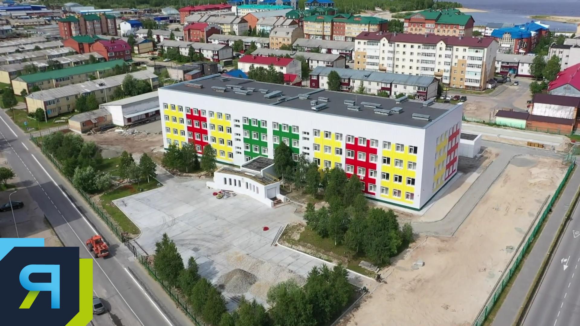 Работы по благоустройству территории школы №1 в Тарко-Сале завершатся в августе
