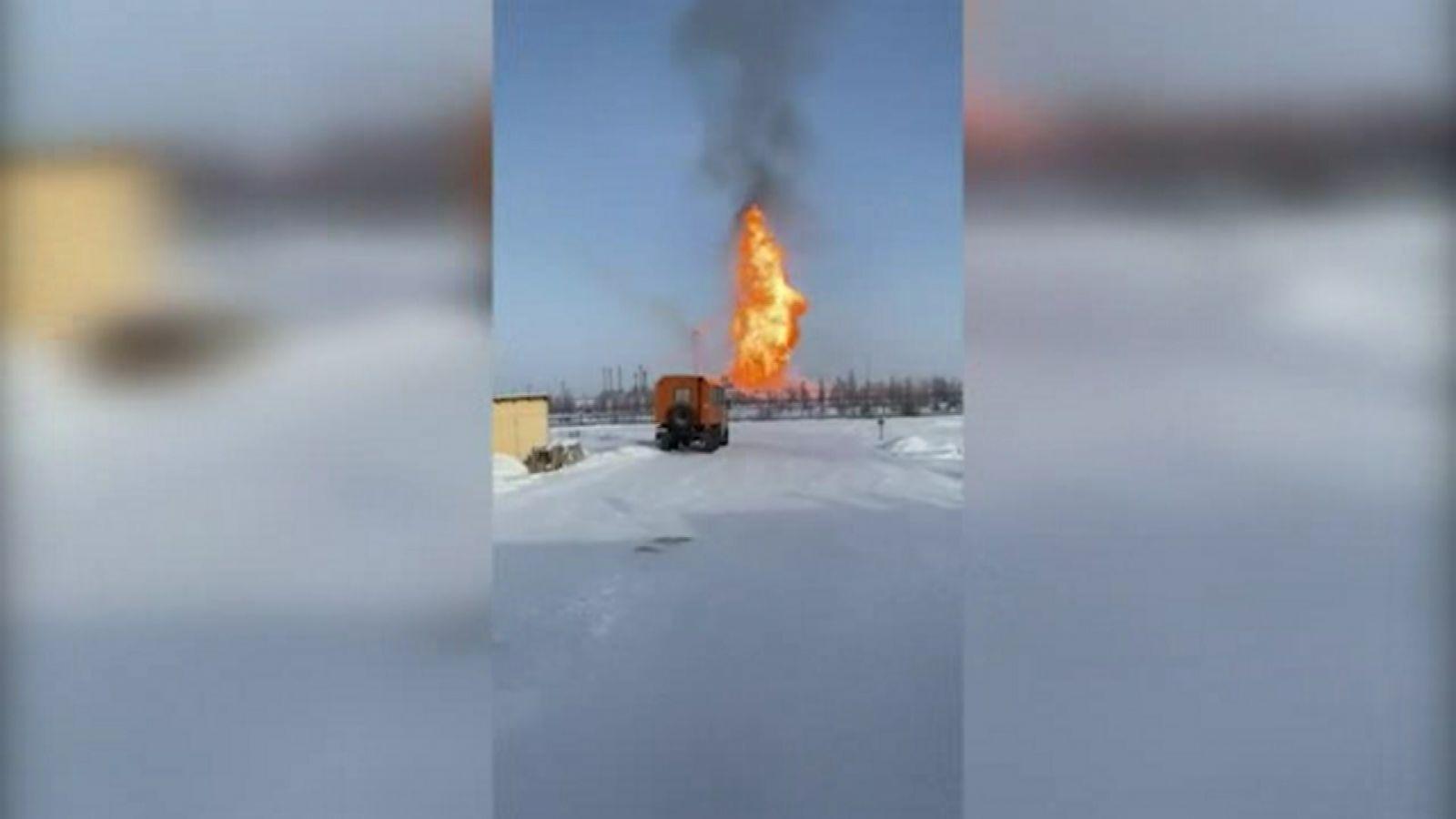 Серьезный пожар произошел на Юбилейном месторождении в ЯНАО